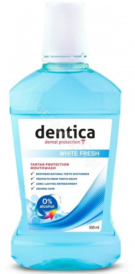 Dentica White Fresh Mouthwash Płyn do płukania jamy ustnej 500 ml 5907608610165