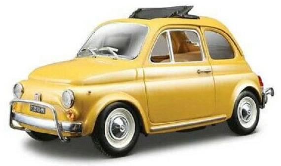Bburago Fiat 500L 1968 Yellow 1:24