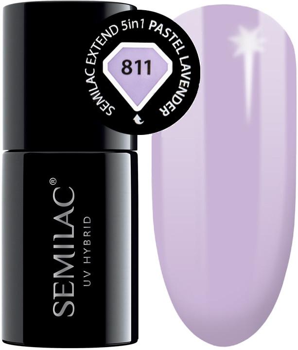 Semilac Baza Extend 811 Top Kolor 5w1 Pastel Lavender 7ml
