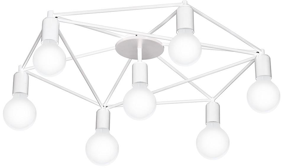 Eglo 97896 - Żyrandol natynkowy STAITI 7xE27/60W/230V biały
