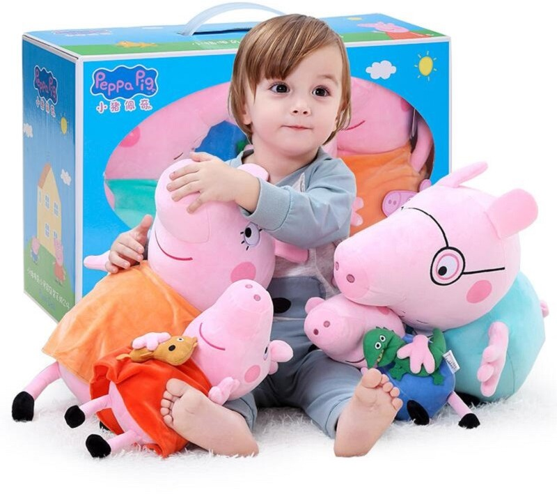 4 sztuk/zestaw świnka Peppa George wypchane pluszowe zabawki 19/30cm świnka Peppa rodzina lalki boże