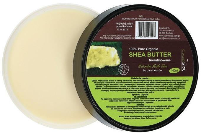 CosmoSPA Shea Butter Nierafinowane Masło Shea 100 ml 1234577819