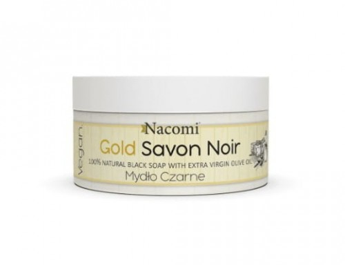 Nacomi Mydło Czarne Savon Noir Gold 125g