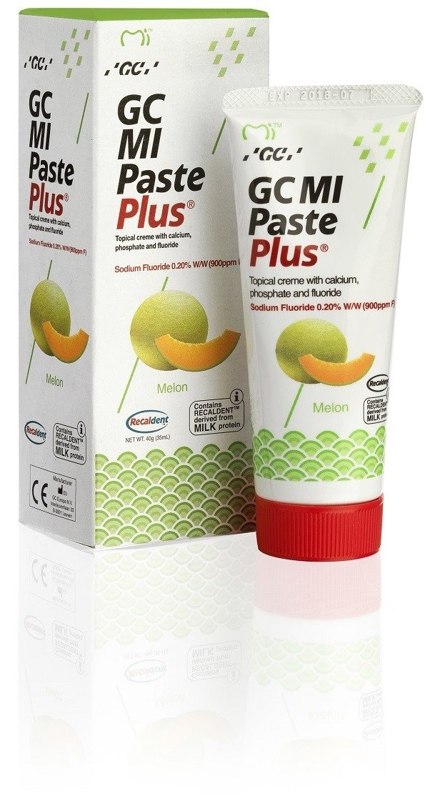 GC Mi Paste Plus Melon - Sztuczne szkliwo z fluorem o smaku melona 35 ml