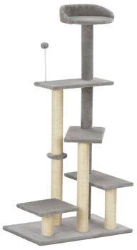 vidaXL Drapak dla kota ze słupkiem sizalowym szary 125 cm 170708