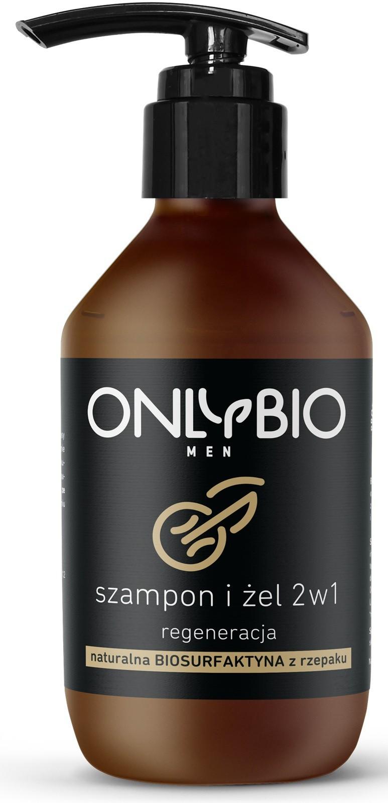Bio ONLY SZAMPON I ŻEL 2w1 REGENERACYJNY DLA MĘŻCZYZN 250 ml - ONLY