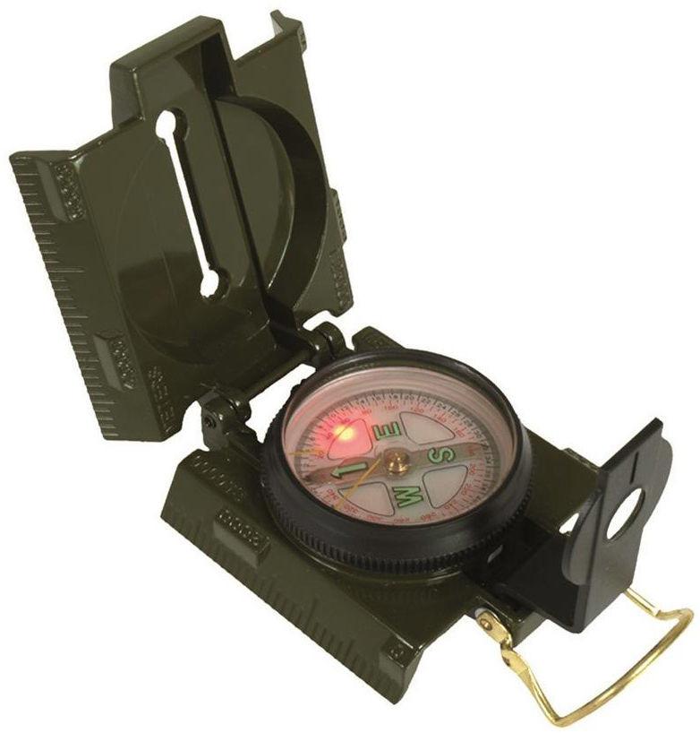 Mil-Tec Kompas metalowy, podświetlany - Olive (15791500) 15791500