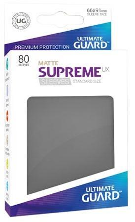 Ultimate Guard Guard Supreme UX Sleeves Standard Size Matte Dark Grey (80)