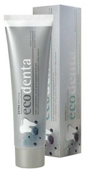 BIOK Laboratorija Odświeżająca pasta do zębów z kwasem hialuronowym i olejkiem miętowym - Ecodenta 100 ml 2079-0
