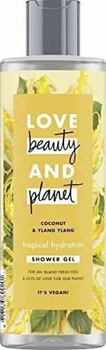 Love, Beauty + Planet Love Beauty And Planet Tropical Hydration żel pod prysznic, do suchej skóry, olejek kokosowy i Ylang Ylang kwiat bez parabenów, 1 sztuka (400 ml)