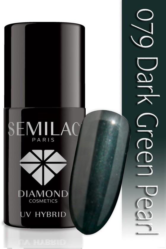 Semilac Lakier Hybrydowy Semilac 079 Dark Green Pearl - 7 Ml 4797
