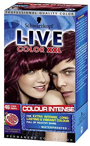 Schwarzkopf 3 X Live Color XXL Colour Intense Permanent Coloration 46 Cyber Purple 5012583002758