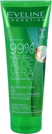 Eveline 99% Natural Aloe Cera Multifunkcyjny Żel Aloesowy Do Ciała I Twarzy Efekt Chłodzący 250ml
