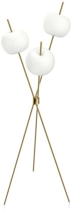 Kundalini Kushi Floor H140 biały złoty mosiądz Kundalini lampa podłogowa K2281059O