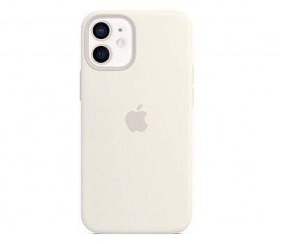 Apple Silikonowe etui iPhone 12 mini białe