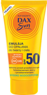 DAX Cosmetics Sun Mini emulsja do opalania SPF 50+, 50 ml 5900525059918