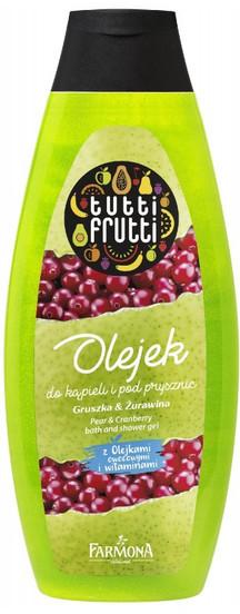 Tutti Frutti Gruszka & Żurawina olejek do kąpieli i pod prysznic 425ml