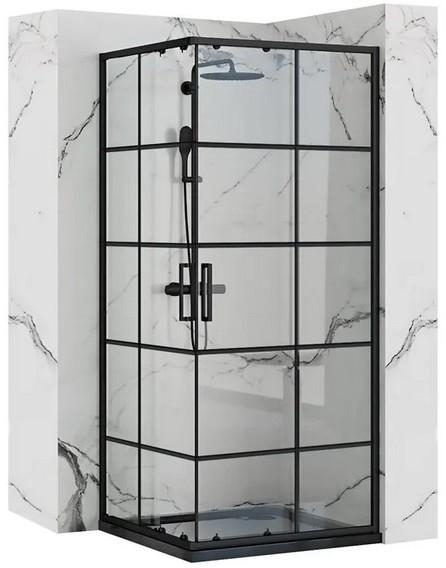 Rea Kabina prysznicowa czarna 90x90cm CONCEPT K5478