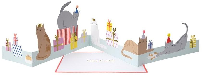 Meri Meri Kartka okolicznościowa 3D Kocia impreza