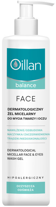 Oceanic Oillan Balance Face dermatologiczny żel micelarny do mycia twarzy i oczu 250 ml