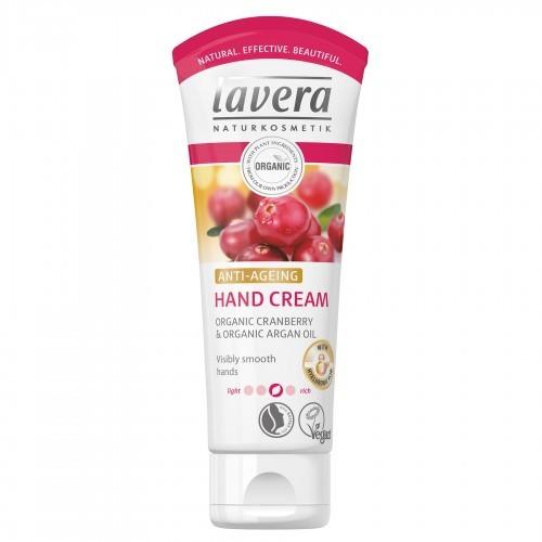 Lavera Krem do rąk Anti Age z hialuronowego Bio Cranberry i bio arganowym pielęgnacji dłoni dla odczuwalnie gładka ręce Vegan Bio Natural i innowacyjna ręcznie Care kosmetyki naturalny cz. pacz 107077