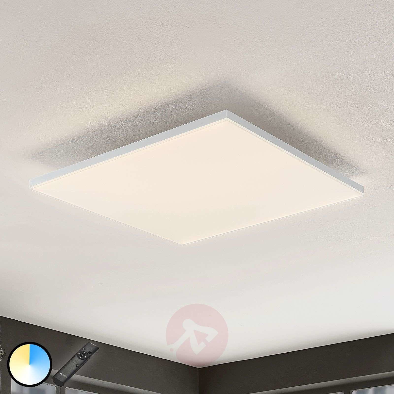 Lampenwelt com Panel LED Blaan CCT z pilotem 59,5 x 59,5cm