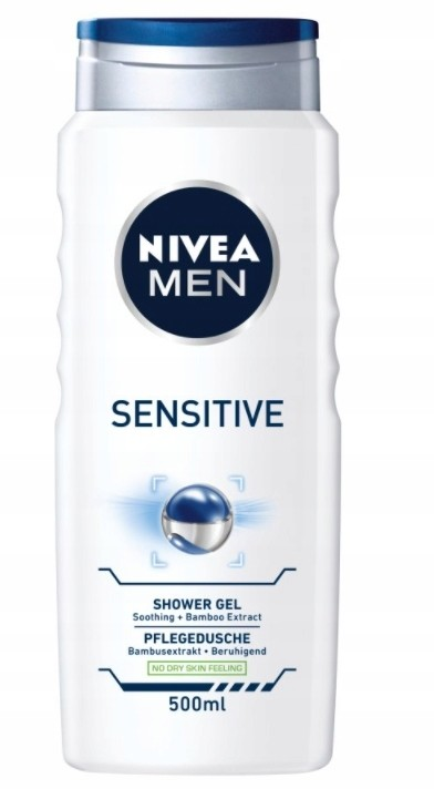 Nivea Men, Sensitive, Żel pod prysznic, 400 ml