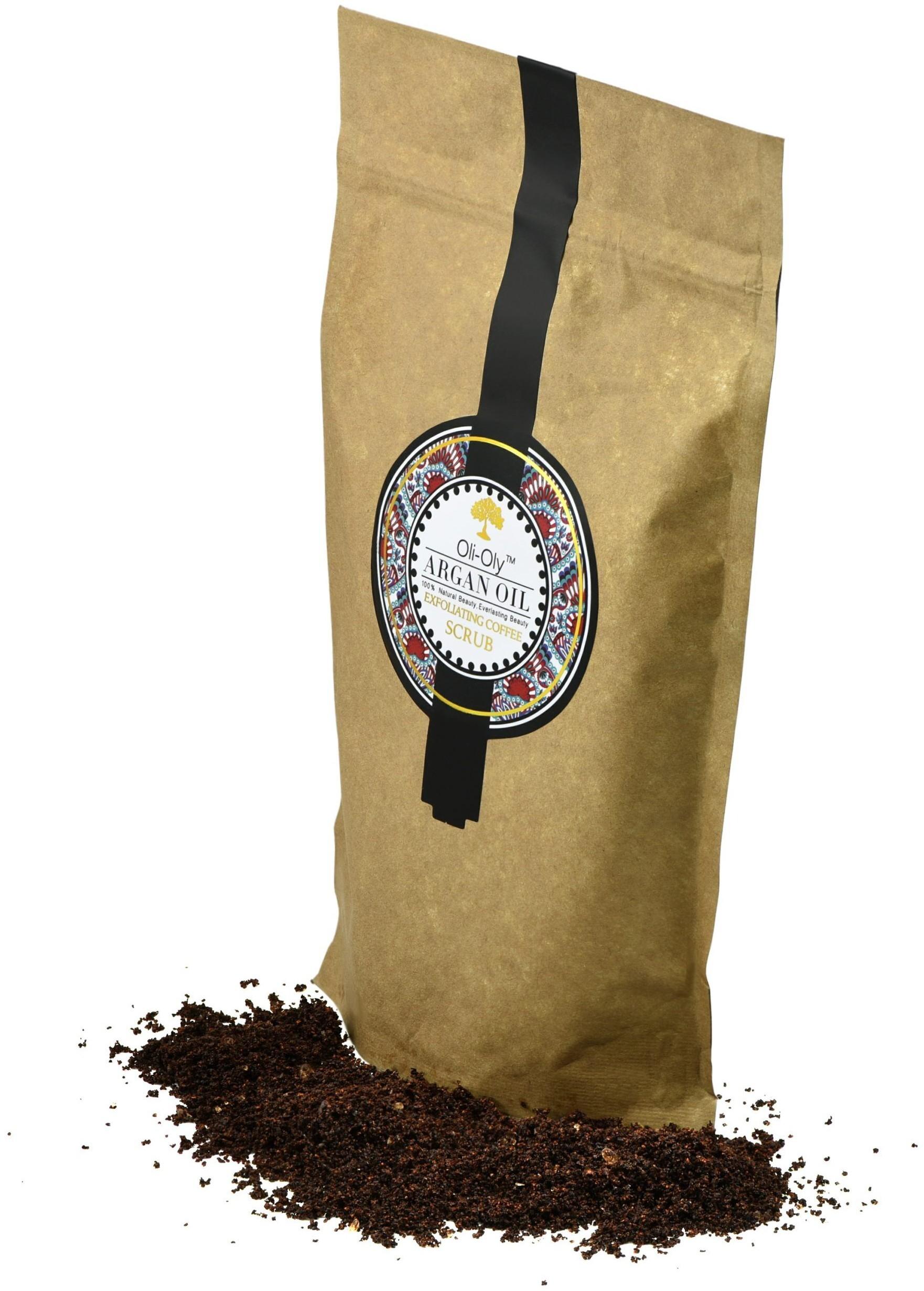 Oli-Oly Kawowy Peeling Złuszczający z Olejem Arganowym, 150g, Bezzapachowy