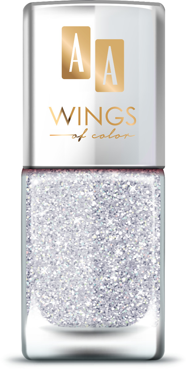 Oceanic AA Wings of Color Summer Festival brokatowy holograficzny lakier do paznokci 102 SILVER 11 ml