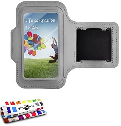 MUZZANO oryginalna opaska na rękę F433515 do Samsung Galaxy S5 - szara CASPERIA ORIGINAL F433515
