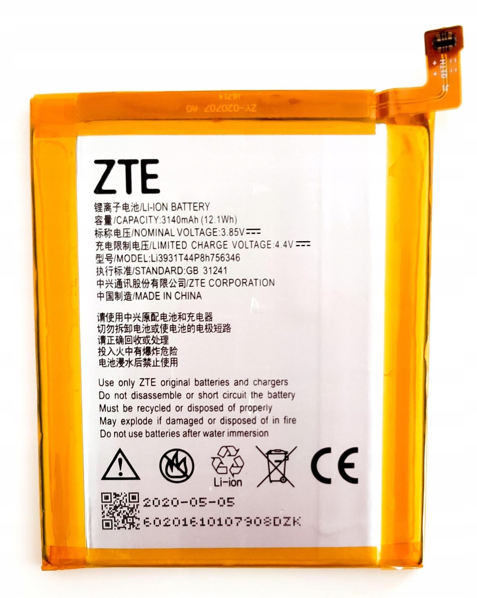 ZTE Oryginał Nowa Bateria Axon 7 Mini Swieżynka
