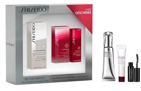 Shiseido Skin-Perfection For Eyes Bio-Performance Glow Revival Eye Treatment Krem pod oczy 15ml + Ultimune Eye Power Infusing Eye Koncentrat pielęgnacyjny pod oczy 5ml + Mascara Full Lash Volume Tusz