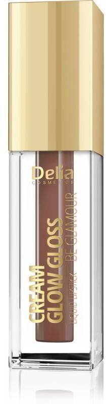 Delia Cosmetics Cream Glow Gloss Pomadka w płynie nr 208 Brownie 5ml