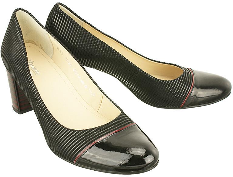 c99d145c Marco Shoes SHOES 0312P-189-021-026-1 czarny, czółenka damskie