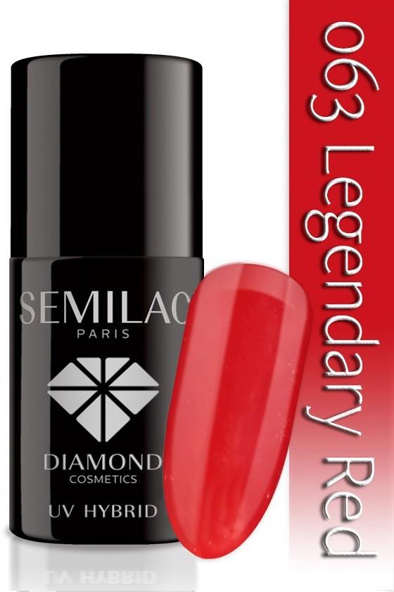 Semilac Lakier Hybrydowy Semilac 063 Legendary Red - 7 Ml 4780