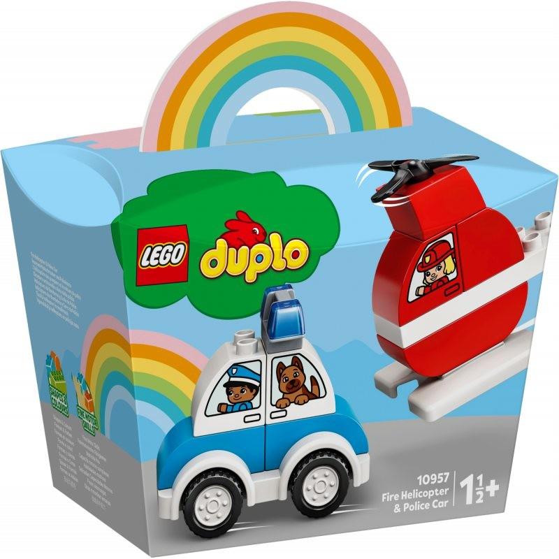LEGO DUPLO Helikopter strażacki i radiowóz 10957