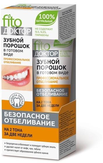 Fitokosmetik Fitokosmetik Proszek Do Zębów Profesjonalne Wybielanie W Gotowej Formie 45ml
