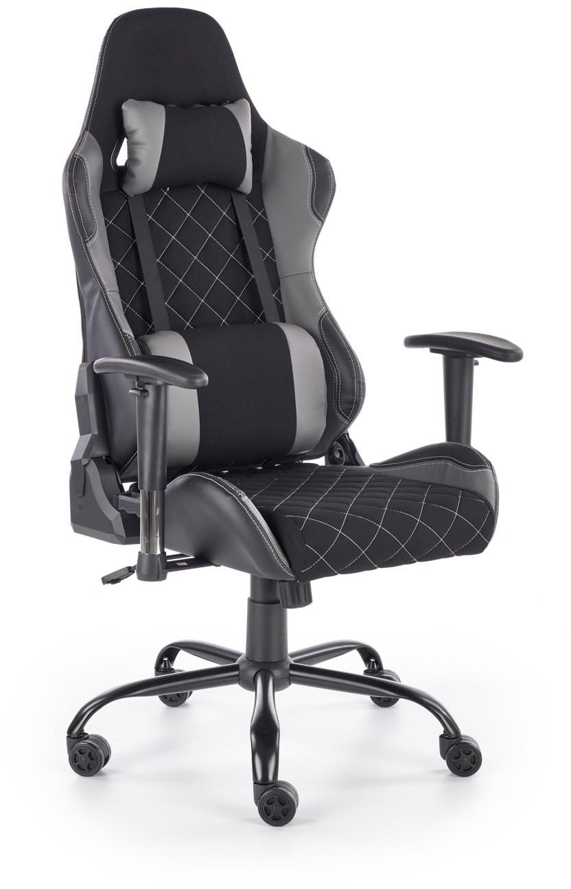 Halmar Fotel biurowy gamingowy DRAKE czarny / popielaty Halmar