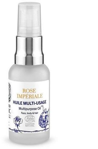 Natura Siberica Rose Imperiale Multipurpose Oil wielofunkcyjny olejek do twarzy, ciała i włosów Hydrolat z Róż Rose de Grasse & Olejek Ylang Ylang 30ml 58166-uniw