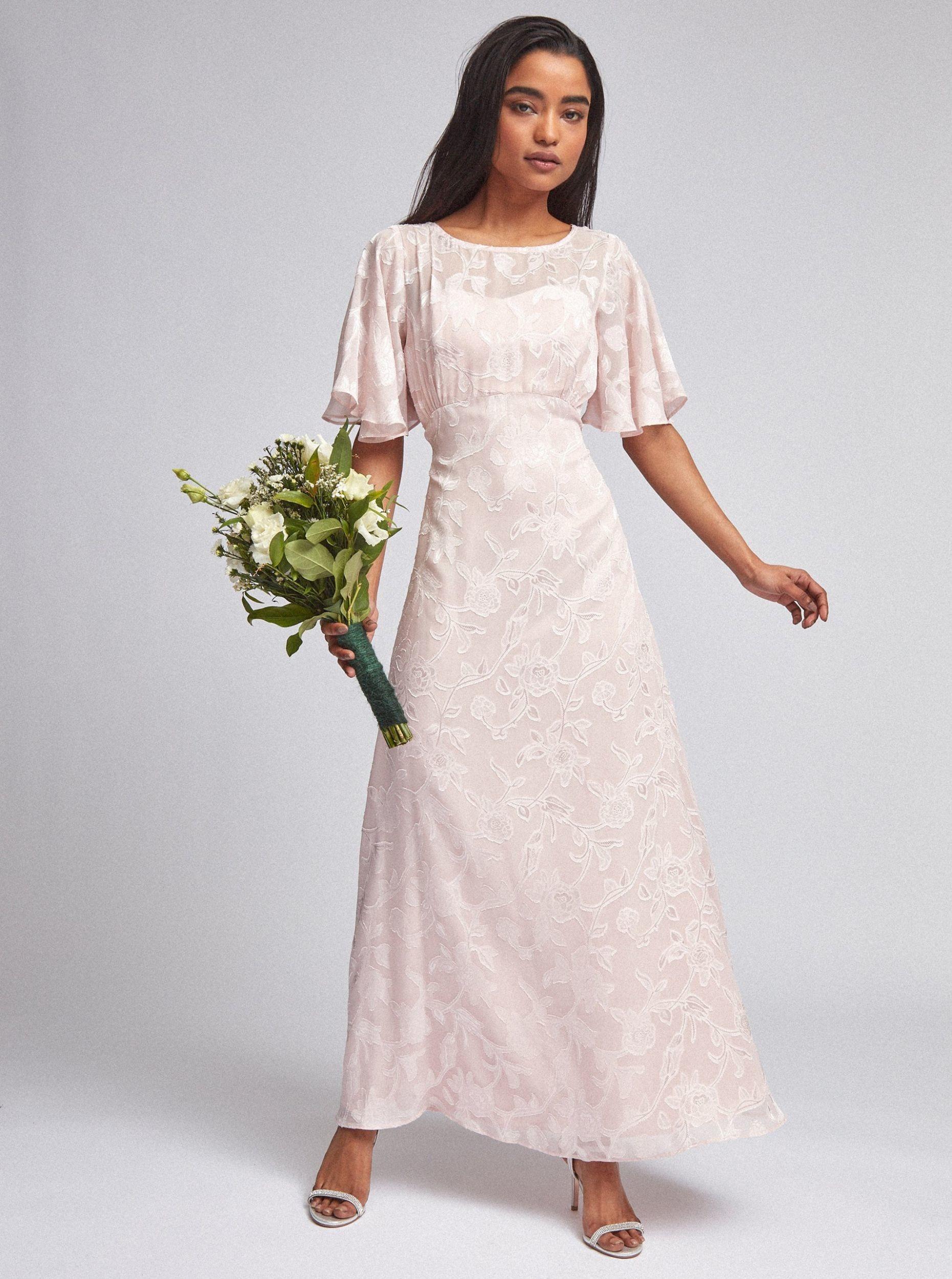 Dorothy Perkins Różowa sukienka maxi w kwiaty M