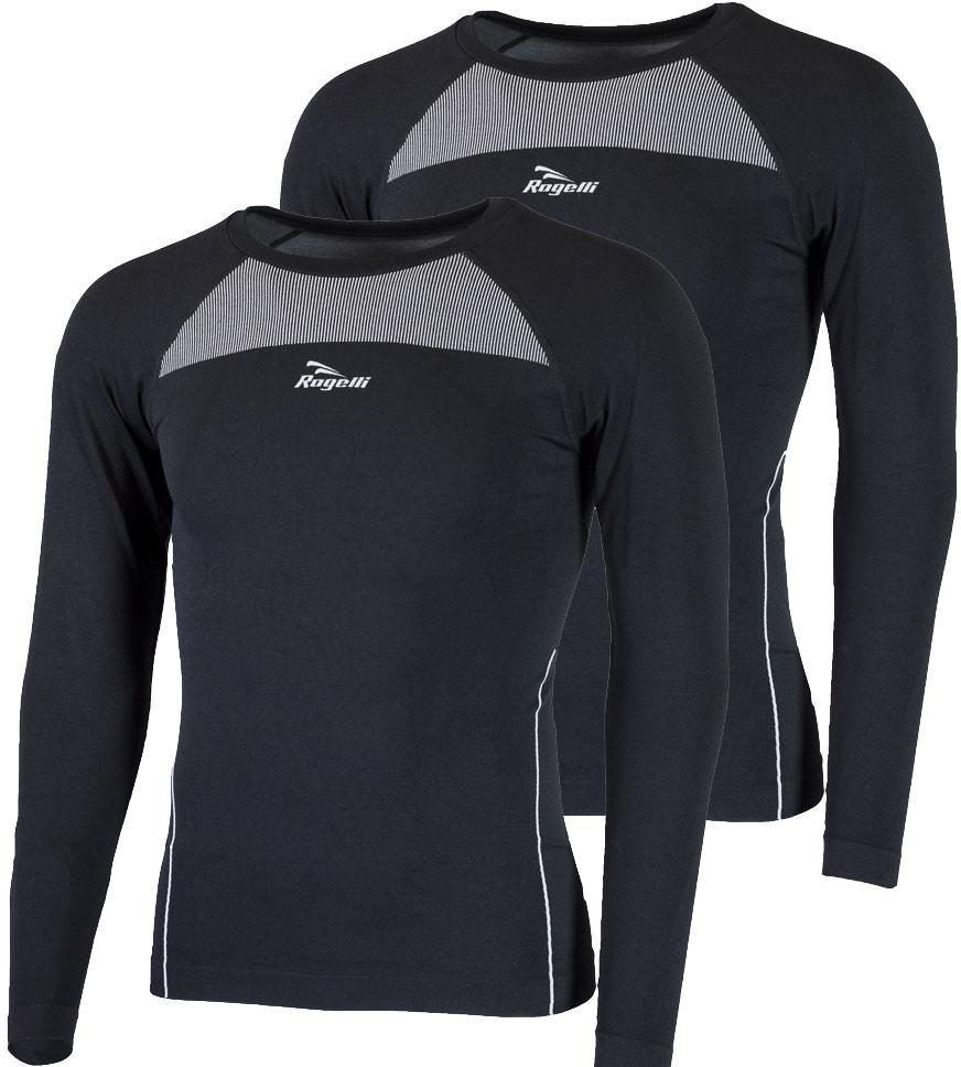 Rogelli CORE 2-pak bielizna koszulka termoaktywna długi rękaw czarny 070.022