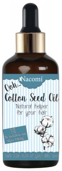 Nacomi Cotton Seed Oil Olej Rafinowany Z Nasion Bawełny Indyjskiej z pipetą 50ml