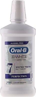 Oral-B Wybielający płyn do płukania jamy ustnej - Oral-B 3D White Luxe Perfection Wybielający płyn do płukania jamy ustnej - Oral-B 3D White Luxe Perfection