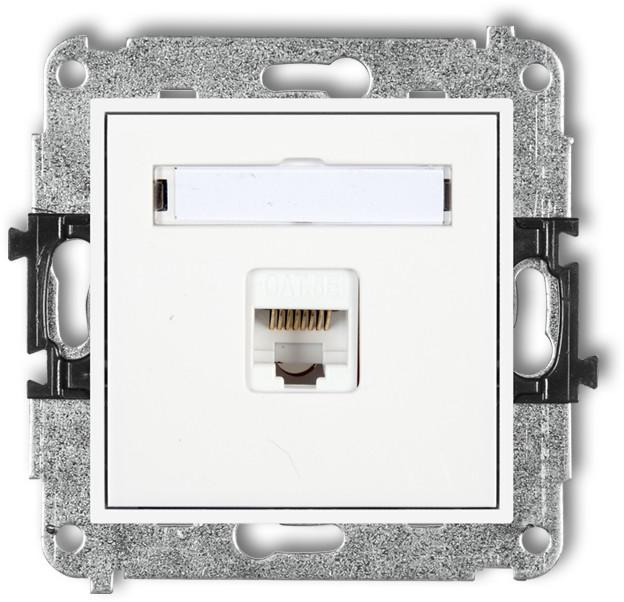 Karlik Gniazdo komputerowe pojedyncze Biały MGK-5