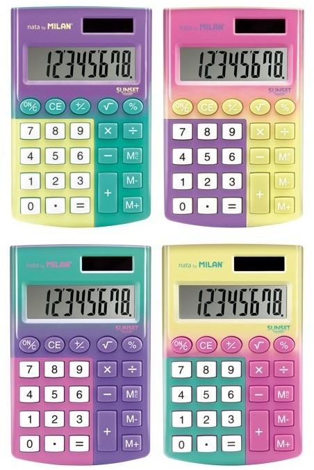 MILAN Kalkulator kieszonkowy Sunset mix