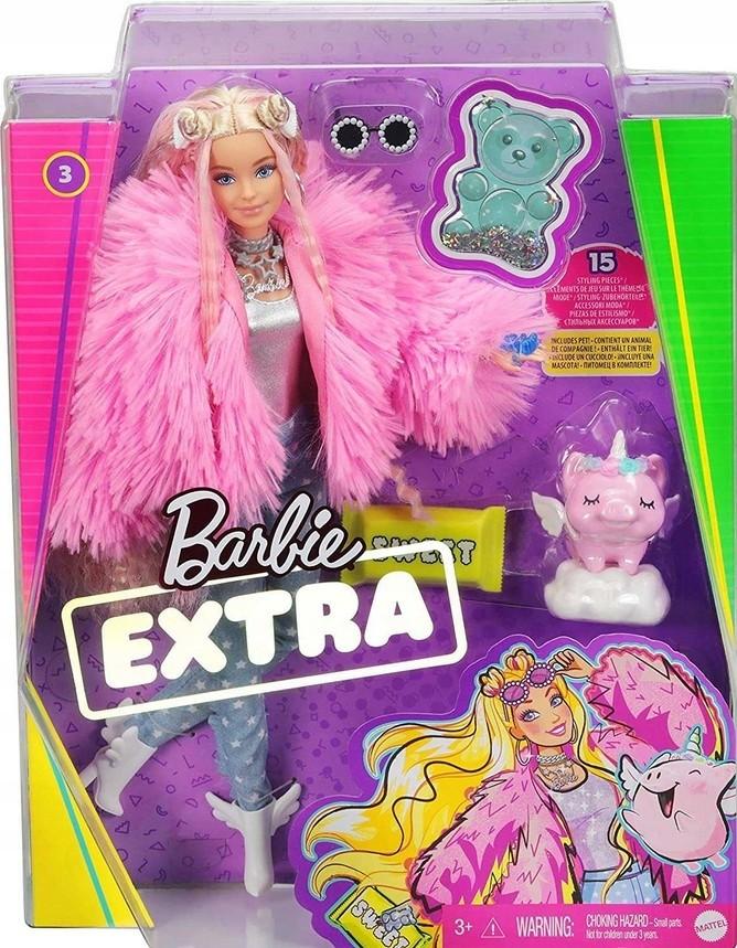 Mattel Lalka Fashionistas Extra 2021 zwierzątko