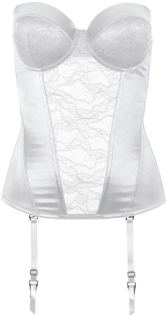 Bonprix Gorset z odpinanymi ramiączkami multiway biały