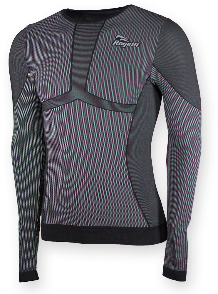 Rogelli CHASE 070.006 bielizna termoaktywna męska koszulka z długim rękawem kolor Czarny