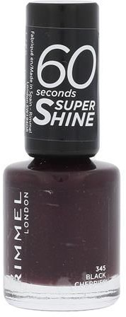 Rimmel London London 60 Seconds Super Shine 345 Black Cherries W 8 ml e3614220616933