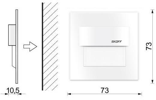 Skoff TANGO Stick LED biały zimny BIAŁY ML-TST-C-W-1-PL-00-01